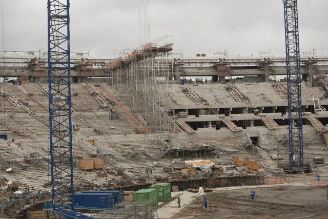 Obras del estadio del Maracaná, en Río de Janeiro, a finales de noviembre de 2012