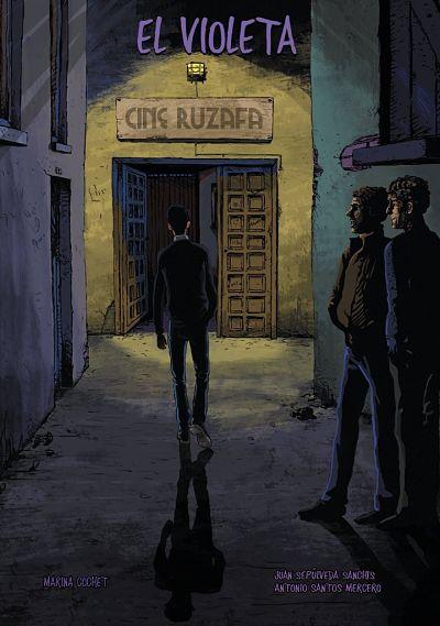Portada del cómic El violeta, de Marina Cochet, Juan Sepúlveda Sanchis y Antonio Mercero
