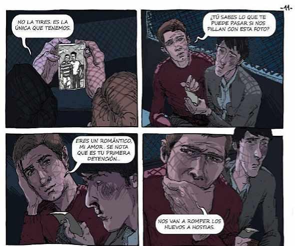 Una página del cómic El violeta